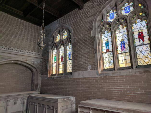 Interior wall Chapel of St Gabriel